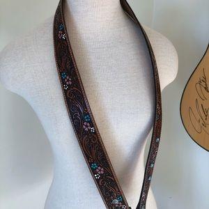 Western leather handbag strap